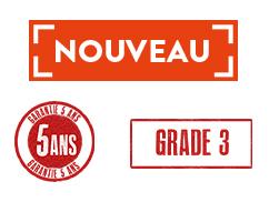 Garantie 5 ans / grade 3