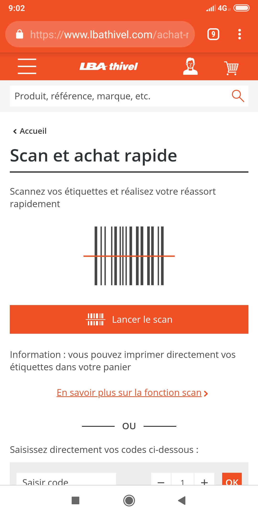 Page présentation scan